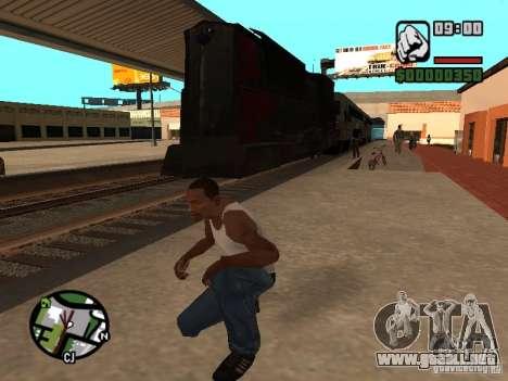 Combinar tren del juego Half-Life 2 para GTA San Andreas vista posterior izquierda
