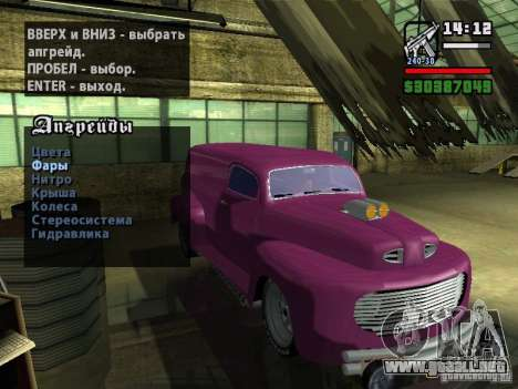 49 Ford HR Van para visión interna GTA San Andreas