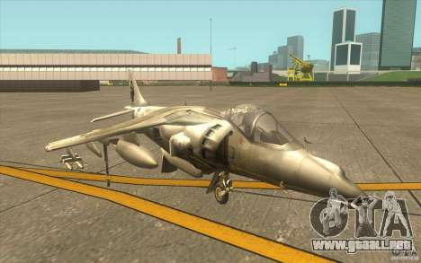 Harrier GR7 para GTA San Andreas left