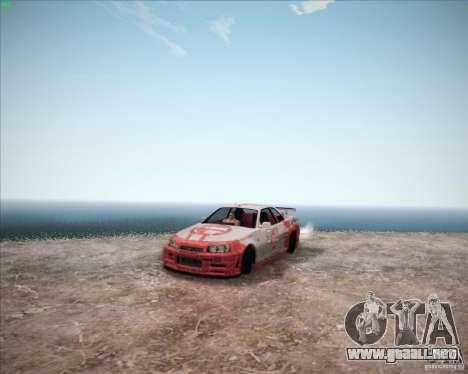 Nissan Skyline Z-Tune v2.0 para la visión correcta GTA San Andreas