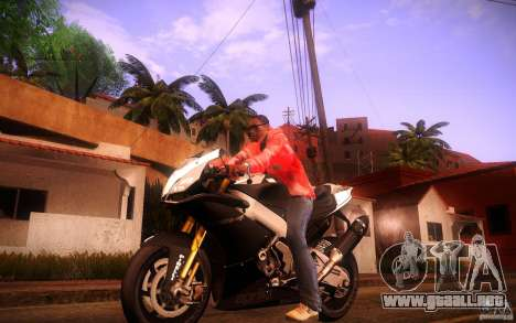 Aprilia RSV-4 Black Edition para GTA San Andreas left