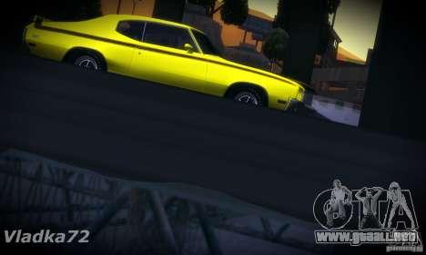 Buick GSX 1970 v1.0 para GTA San Andreas vista hacia atrás