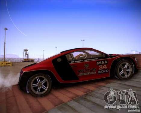 Audi R8 Shift para visión interna GTA San Andreas