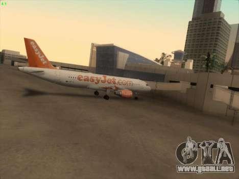 Airbus A320-214 EasyJet para vista inferior GTA San Andreas