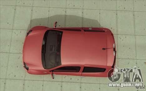 Renault Clio V6 para la visión correcta GTA San Andreas