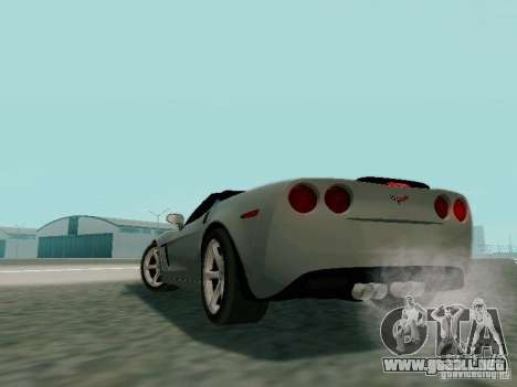 Chevrolet Corvette C6 GS Convertible 2012 para visión interna GTA San Andreas