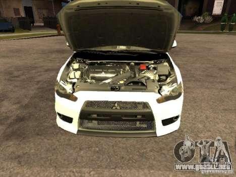 Mitsubishi Lancer X Police Indonesia para la visión correcta GTA San Andreas
