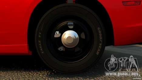 Dodge Charger RT Max FBI 2011 [ELS] para GTA 4 vista desde abajo