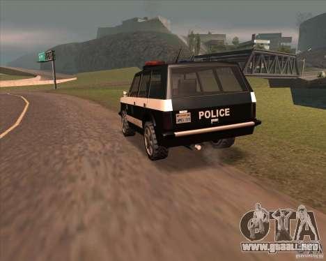 Huntley Police Patrol para GTA San Andreas vista posterior izquierda