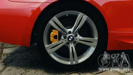 BMW M6 F13 2013 v1.0 para GTA 4 vista desde abajo
