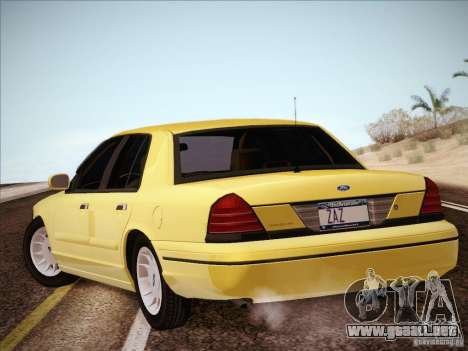 Ford Crown Victoria Interceptor para GTA San Andreas left