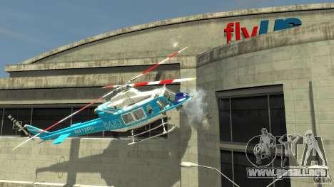 NYPD Bell 412 EP para GTA 4 Vista posterior izquierda
