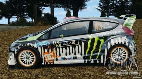 Ford Fiesta RS WRC Gymkhana v1.0 para GTA 4 left