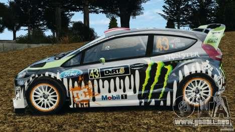Ford Fiesta RS WRC Gymkhana v1.0 para GTA 4 left