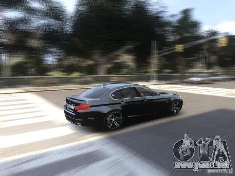 BMW 550i F10 para GTA 4 vista interior
