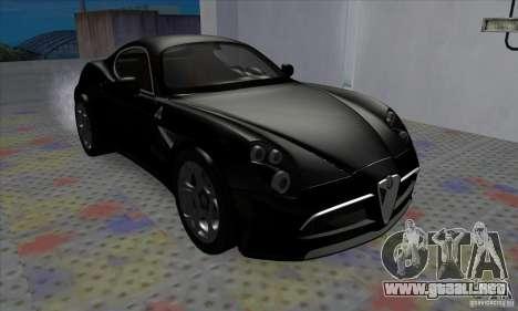 Alfa Romeo 8C Competizione para GTA San Andreas left