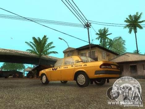 Taxi Volga GAZ 3110 para GTA San Andreas vista posterior izquierda