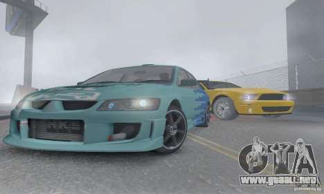 Mitsubishi Lancer Evolution 8 Tuneable para vista lateral GTA San Andreas