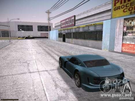 TVR Cerbera Speed 12 para GTA San Andreas vista posterior izquierda