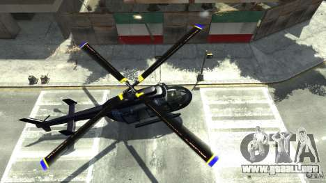 NYC Helitours Texture para GTA 4 vista hacia atrás