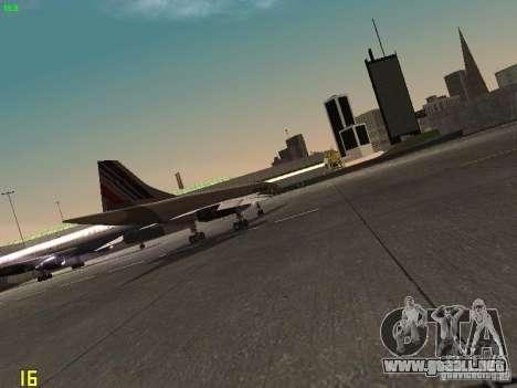 Aerospatiale-BAC Concorde Air France para GTA San Andreas vista hacia atrás