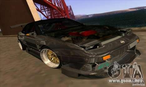 Nissan 180SX Gkon - Drift chrome para GTA San Andreas