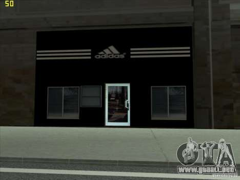 Reemplazo total de la tienda Binco Adidas para GTA San Andreas segunda pantalla