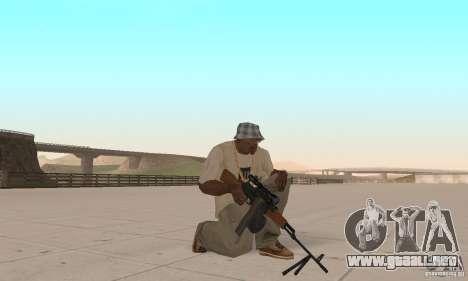 La portátil ametralladora Kalashnikov para GTA San Andreas tercera pantalla