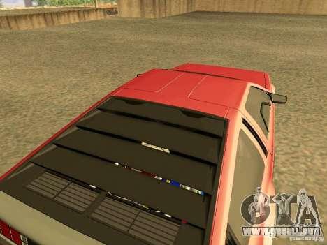 DeLorean DMC-12 V8 para GTA San Andreas vista posterior izquierda