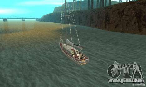 Marquis Segelyacht 09 Textures para GTA San Andreas vista posterior izquierda