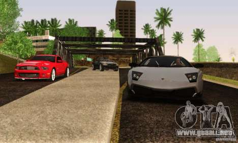 Lamborghini Murcielago LP 670-4 SV para GTA San Andreas vista hacia atrás