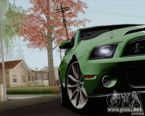Ford Shelby GT500 Super Snake 2011 para vista lateral GTA San Andreas