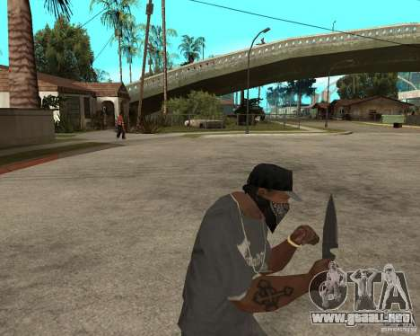New knife para GTA San Andreas tercera pantalla