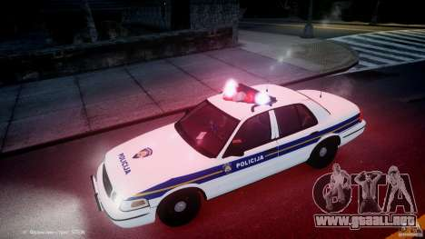 Ford Crown Victoria Croatian Police Unit para GTA motor 4