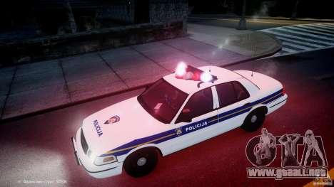Ford Crown Victoria Croatian Police Unit para GTA motor 4
