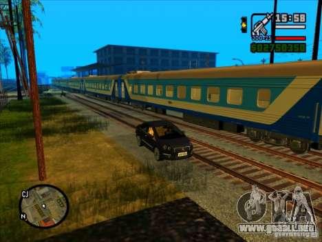 Largo tren para GTA San Andreas sucesivamente de pantalla