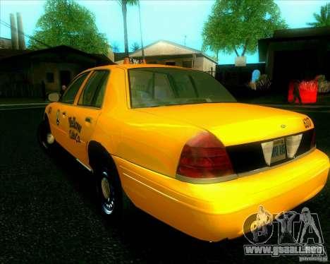 Ford Crown Victoria 2003 TAXI para la visión correcta GTA San Andreas