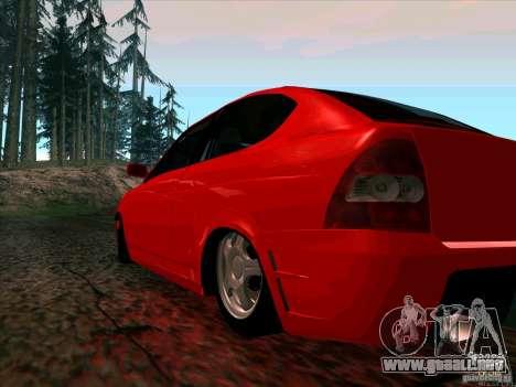 Lada Priora Coupe para GTA San Andreas vista posterior izquierda
