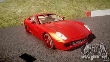 Ferrari 599 GTB Fiorano 2006 (Beta) para GTA 4 vista hacia atrás