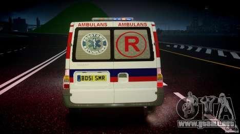 Ford Transit Polish Ambulance [ELS] para GTA 4 vista desde abajo