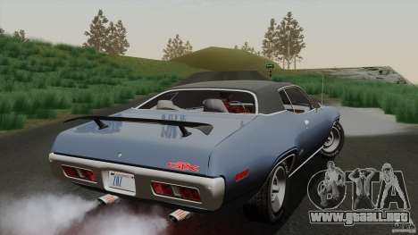 Plymouth GTX 426 HEMI 1971 para vista lateral GTA San Andreas
