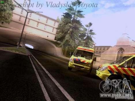 Mercedes-Benz Sprinter Ambulance para GTA San Andreas vista hacia atrás