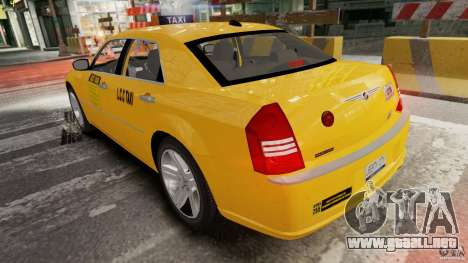 Chrysler 300c 3.5L TAXI FINAL para GTA 4 Vista posterior izquierda