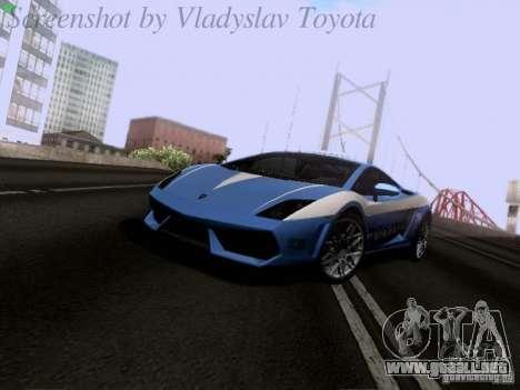 Lamborghini Gallardo LP560-4 Polizia para GTA San Andreas left