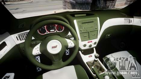 Subaru Impreza WRX STi 2009 para GTA 4 vista hacia atrás