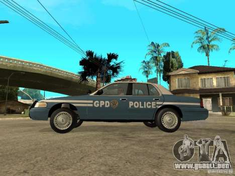 2003 Ford Crown Victoria Gotham City Police Unit para GTA San Andreas left