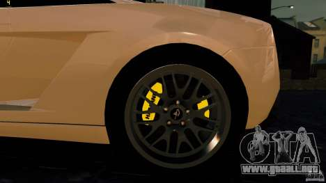 Lamborghini Gallardo Hamann para GTA 4 vista hacia atrás