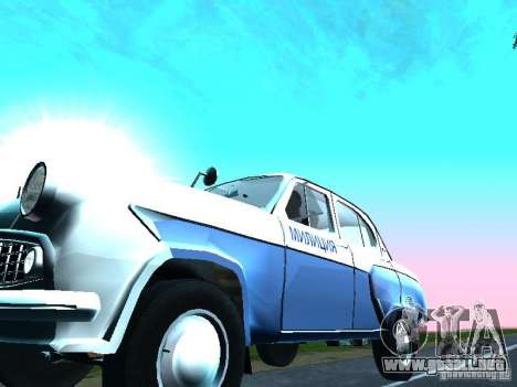 Moskvitch 403 con policía para visión interna GTA San Andreas