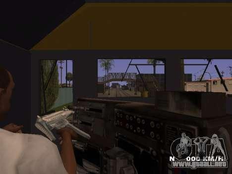 SD 40 UP BN Santa Fe para GTA San Andreas vista hacia atrás