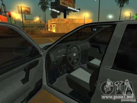 VAZ-2112 para GTA San Andreas vista hacia atrás